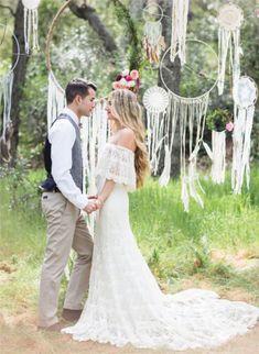 bohemian dreamcatchers wedding decor ideas