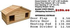 Small Duplex Insulated Cedar Cat House - Small Dog House