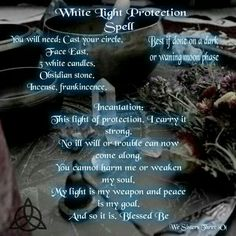 White light protection spell