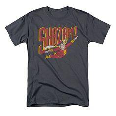 DC+Comics+Retro+Shirt Products : Shazam Retro Flight Charcoal T-Shirt