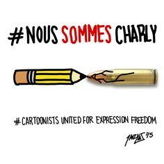 #NousSommesCharly #CartoonistsUnitedForExpressionFreedom