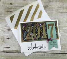 Number of Years Happy New Years Card 2016 Occassions Stampin' Up! Catalog www.stampstodiefor.com #stampinup #numberofyears #newyearscard
