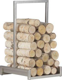 Alton Pewter Log Holder | Crate and Barrel