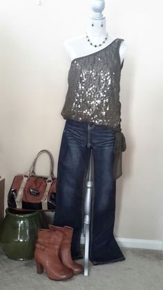 Gorgeous Charlotte Russe Sequin Top *OR* Guess Satchel in Naperville, IL (sells for $19)