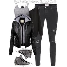 winter outfits for school & winter outfits . winter outfits for work . winter outfits for school . winter outfits for going out . Cute Emo Outfits, Bad Girl Outfits, Teenager Outfits, Edgy Outfits, Teen Fashion Outfits, Swag Outfits, Tomboy Winter Outfits, Jeans Outfits, Spring Outfits