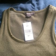 Army green with golden sparks shell Never worn Suzie shier Tops Tank Tops