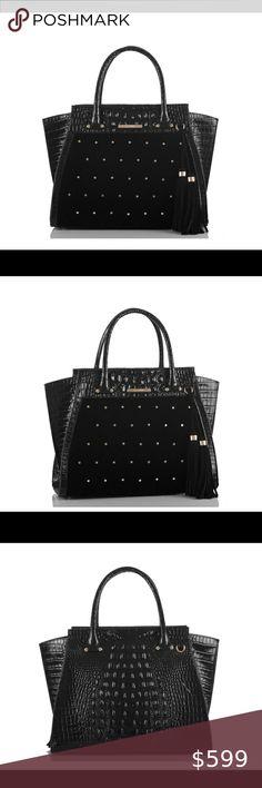 Spotted while shopping on Poshmark: NWT Brahmin Lg Priscilla Faroe studded satchel! Brahmin Handbags, Brahmin Bags, Leather Satchel, Leather Backpack, Leather Handbags, Tina Small, New York Bridge, Quilted Leather, Michael Kors Jet