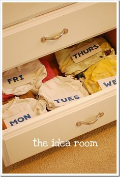 Back To School Ideas-Clothing Organization