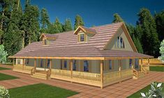 House plan number 35050GH - a beautiful 3 bedroom, 2 bathroom home. House Plans And More, New House Plans, House Floor Plans, Porch House Plans, Rustic House Plans, Country House Plans, Metal Barn House Plans, Cabin Plans, Metal Building Homes