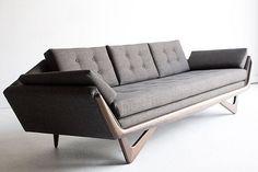 Really fantastically beautiful Adrian Pearsall Sofa for Craft Associates #midcenturymodern #pearsall #craftassociates #sofa