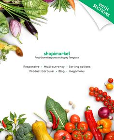 Food Store Responsive Shopify Theme #62200