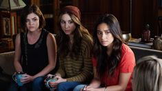 Lucy Hale, Troian Bellasario and Shay Mitchell