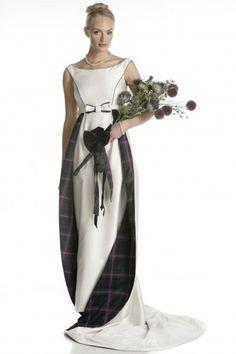 Iona dress, part of the Joyce Young Tartan Spirit Wedding collection