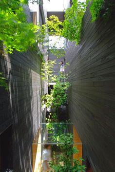 Minimalist office design multi-tenant building in Hiroshima