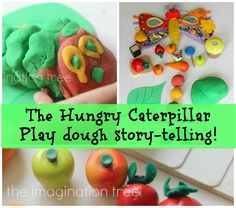 The Imagination Tree: The Hungry Caterpillar Play Dough Story-telling Toddler Fun, Toddler Preschool, Kids Fun, Literacy Activities, Activities For Kids, Hungry Caterpillar Party, Imagination Tree, Chenille, Yoga For Kids