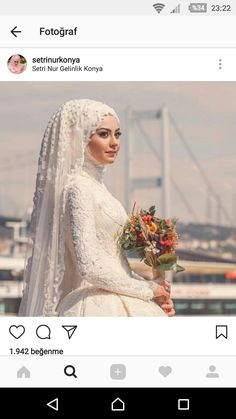Hijabi Wedding, Muslim Wedding Gown, Wedding Hijab Styles, Muslimah Wedding Dress, Muslim Wedding Dresses, Muslim Brides, Wedding Dress Sleeves, Wedding Bride, Bridal Dresses