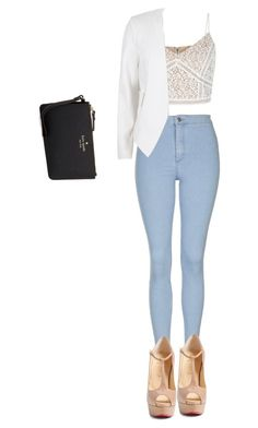 """""""Untitled #826"""" by laurenatria11 on Polyvore featuring Kate Spade, Topshop, River Island and Christian Louboutin"""