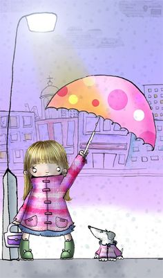 Helen Turner cute rain illustration