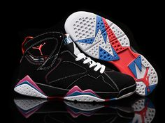 sneakers for cheap ddfae ce588 Really Cheap Air Jordan 7 Retro Black White Pink - Mysecretshoes