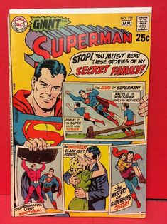 1977 Superman Comic Super A Numerous In Variety