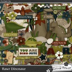 Rawr Dinosaur - Kit Connie Prince. Scrap for hire / others ok.