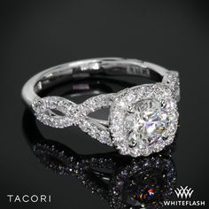 Tacori Petite Crescent Twisted Diamond Engagement Ring.