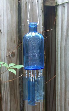 Vintage Milk of Magnesia Bottle Windchime by hunter5220 on Etsy, $37.00