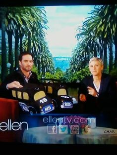 JIMMIE ON THE ELLEN SHOW, SHE MADE CARRIER'S FOR HIS PUP'S.