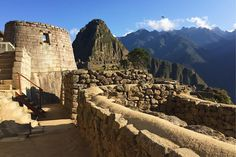 Inti's residence  Inti is the Inca word for sun  the building on the left is astrologically aligned to the sunrise and sunset of the winter solstice.  #mountains #sky #clouds #landscape #nature #architecture #building #sun #astronomy #machupicchu #cusco #peru #experienceperu #southamerica #discoversouthamerica