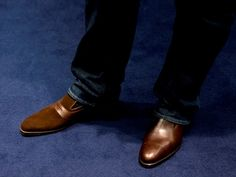 Brown loafers, always good for pairing with jeans (Marcos and Laurelhurst models shown)