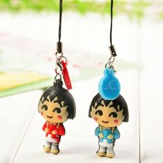 Backpack girl couple phone pendant