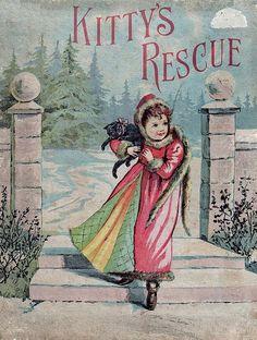 Antique children's book - Kitty's Rescue