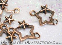 @Mindz $5 30 Coppery Star on Star Connectors 12.5x18.5mm