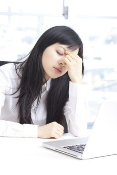 Are you spending too much time in front of the computer? 10 steps to deal with computer eye strain.