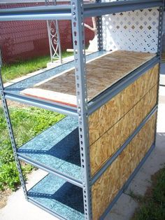 Make a rack cage system using utility shelving. Not the cheapest option, but a good deal considering the multiple enclosures. Not sure about heating, though.for bearded dragon? Lizard Cage, Snake Cages, Cat Cages, Reptile Habitat, Reptile Room, Reptile Cage, Bartagamen Terrarium, Terrarium Reptile, Bearded Dragon Habitat