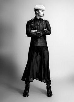 Men's Fashion mens fashion Fashion Week S/S 2013 John Varvatos Fashion Editor, Editorial Fashion, Skater Dress, Dress Skirt, Feminine Traits, John Varvatos, Jacket Style, Fashion Photo, Jeans