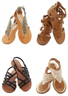 Too many shoes? No such thing. **Adorable sandals for summer