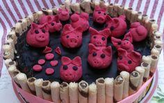 Tort ,, Świnki w błocie ''. Lekki i pyszny, ucieszy Twojego malucha