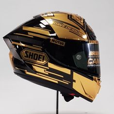Image may contain: 1 person Motorcycle Helmet Design, Biker Helmets, Racing Helmets, Racing Motorcycles, Motorcycle Bike, Dual Sport Helmet, Shoei Helmets, Helmet Armor, Helmet Accessories
