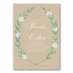 Rustic Together Forever Floral Wedding Invitations http://partyblockinvitations.occasions-sa.com/Wedding/Wedding-Invitations/3254-TWS54094-Together-Forever--Invitation.pro
