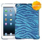 Blue iPad Mini MyBat Zebra Bling Case