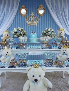 Trendy Ideas For Baby Boy Birthday Party Ideas Decoration Food Tables Deco Baby Shower, Boy Baby Shower Themes, Baby Shower Gender Reveal, Baby Shower Favors, Shower Party, Baby Shower Parties, Baby Boy Shower, Deco Candy Bar, Mesas Para Baby Shower