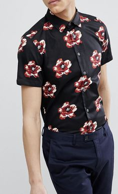 On my wishlist : Ted Baker Slim Short Sleeve Floral Shirt from ASOS #ad #men #fashion #shopping #outfit #inspiration #style #streetstyle #fall #winter #spring #summer #clothes #accessories