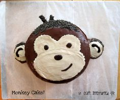 Craft, Interrupted: Monkey Party - Food Table & Monkey Cake