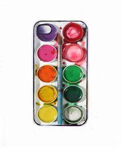 Iphone 4s - 4 case, watercolor box case