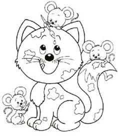 Gatos para imprimir e colorir                                                                                                                                                                                 Mais