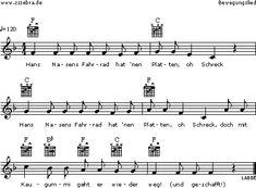 Hans Nasens Fahrrad - Kinderlieder und Singspiele | Labbé Verlag