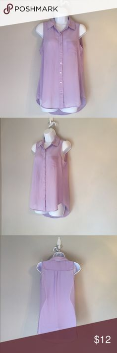 Rue 21 Light Purple Sheer Tank sz. M Rue 21 Light Purple Sheer Tank sz. M. Excellent condition. Rue 21 Tops Tank Tops