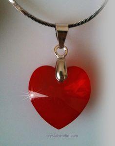 RED HEART PENDANT | CRYSTAL TALLADO