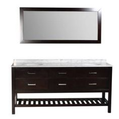 Check out the Ariel Bath DT2D4-72 Nautica Double Sink Bathroom Vanity in Espresso priced at $1,458.00 at Homeclick.com.
